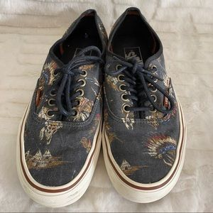 Vans Black Native Indian Chief Canvas Laceups